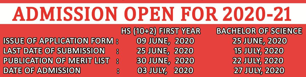 Admission 2020 - 21